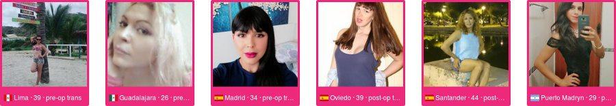 Muchos perfiles de ladyboy y transexuales coinciden con tu búsqueda para conocerte